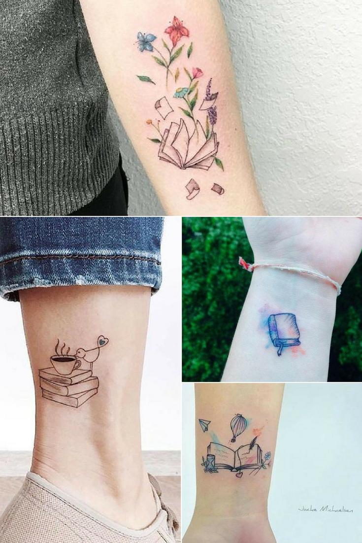 inspiração de tatuagens de livros