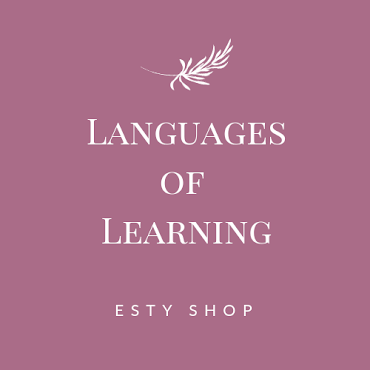 Languages of Learning Etsy Shop
