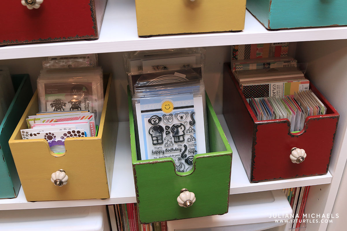 Ordinary Card Making Storage Ideas Part - 9: Scrapbook And Card Making Storage Ideas - Juliana Michaels Of 17turtles  Shares Her Creative Space And