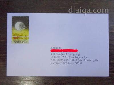 surat siap dikirim via pos