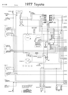 repair-manuals: Toyota Corona 1977 Wiring Diagrams