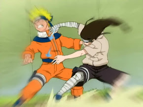 Neji Ocho Trigramas Sesenta y Cuatro Palmas, Neji vs Naruto