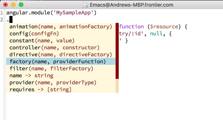 Emacs company mode setup,