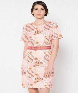 gambar dress batik pendek terbaru