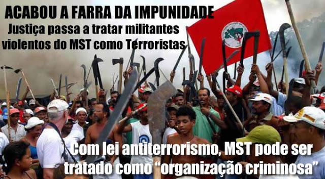 Justiça usa legislação antiterrorismo para prender marginais do MST, que invadiram Usina Santa Helena em Goiás