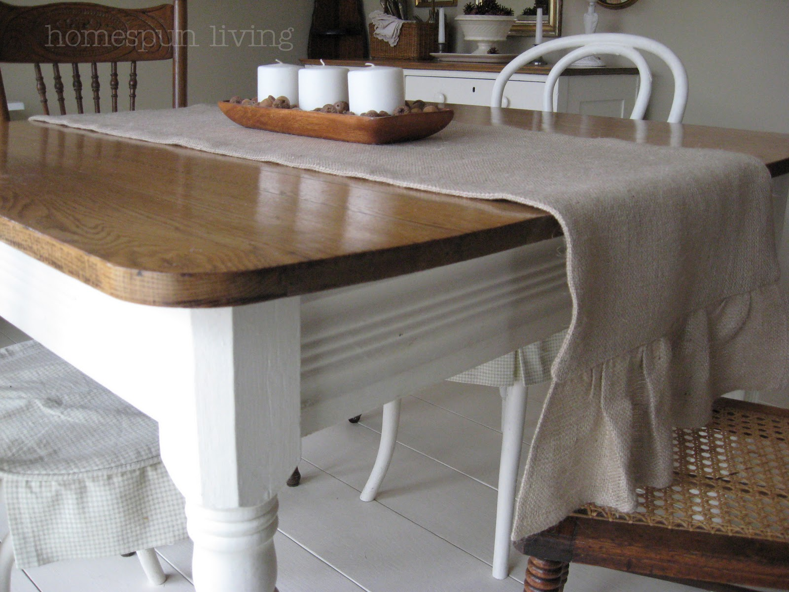 Homespun living a table runner for the dining room