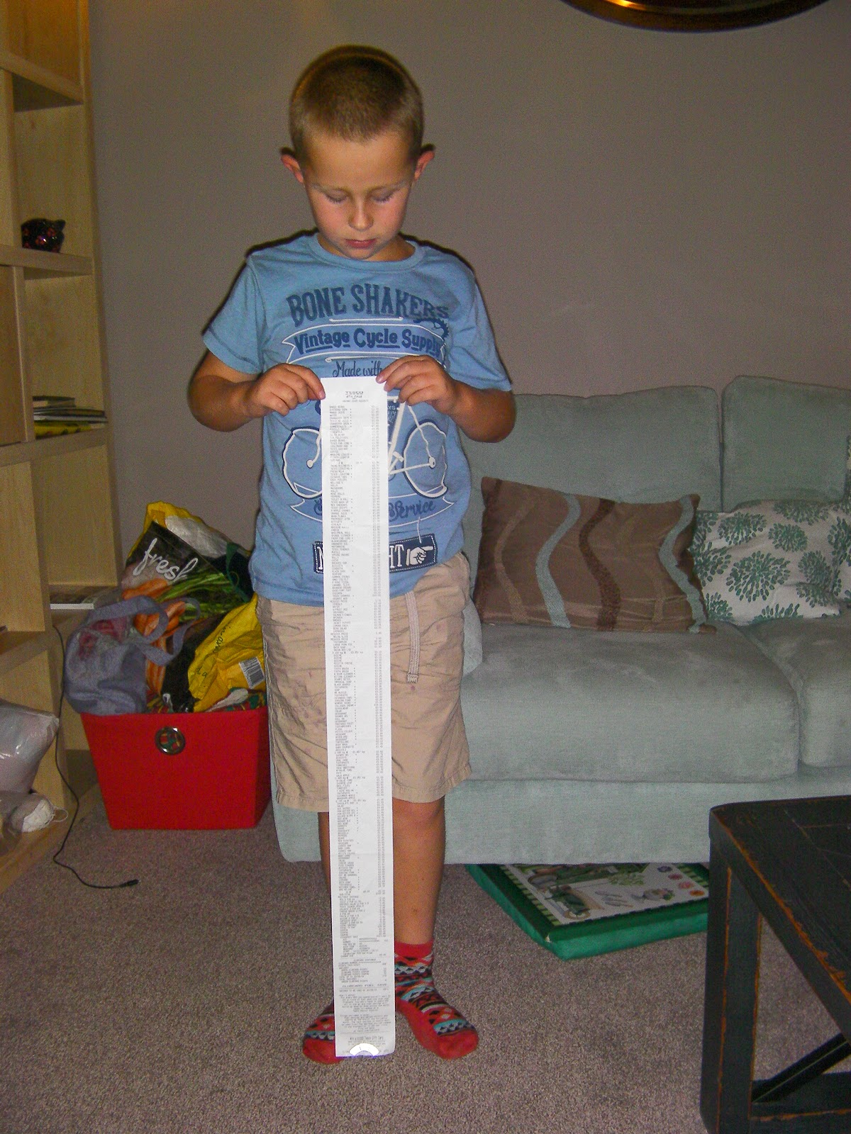 super long receipt from months shopping at tesco extra havant