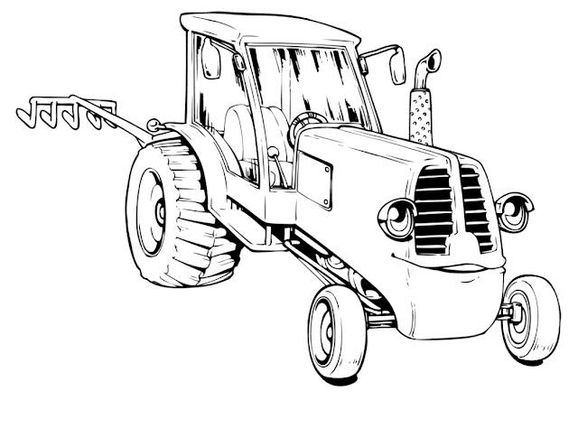 Dessins et coloriages - Coloriage tracteur en ligne ...