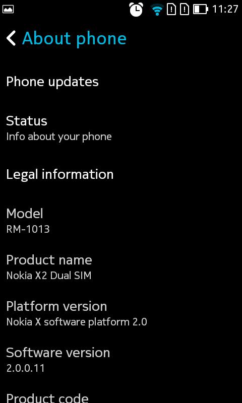 Nokia X2 Hands-on OS