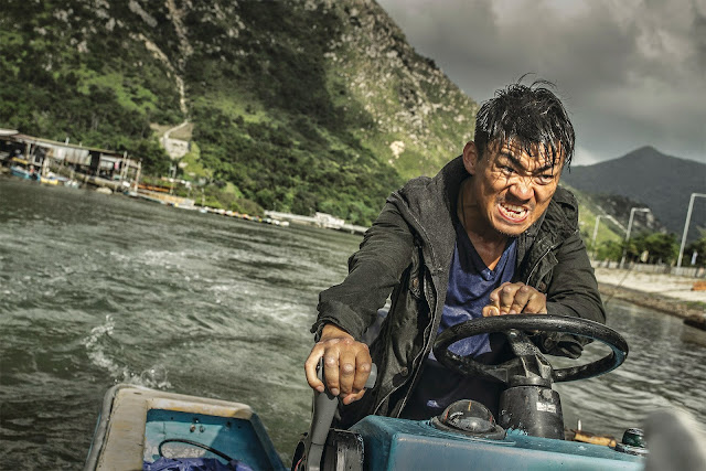 Wang Baoqiang channels Harrison Ford in Patriot Games and gets himself involved in a clumsily tacked-on motorboat chase.