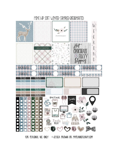 Reformatted Free Printable Mini Happy Planner Soft Winter Sampler from myplannerenvy.com
