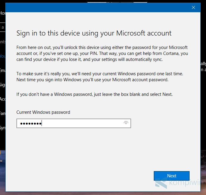 Cara Membuat Akun Microsoft dan Mengganti User Lokal ke Akun Microsoft di Windows 8.1 dan Windows 10 9