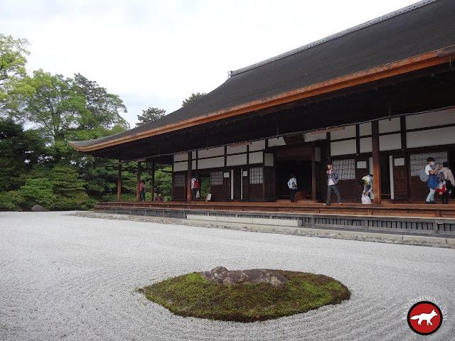 Vue du jardin sec de Kennin-Ji à Kyoto