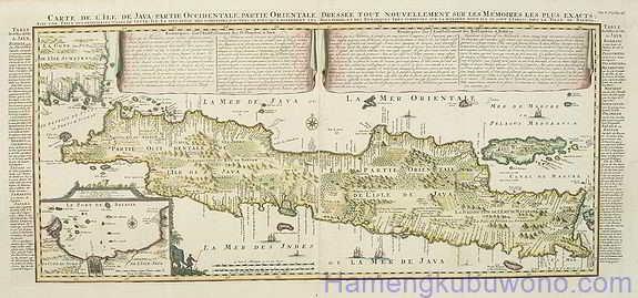 gambar peta Jawa Kuno - Peta kedua Karya Henri Chatelain's 1720