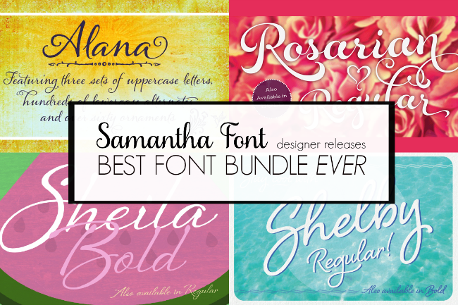 Commercial script font bundle Laura Worthington Silhouette CAMEO