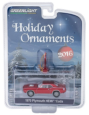 diecast 1970 plymouth hemi cuda holiday ornaments greenlight