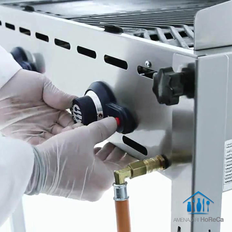 Gratar Gaz Profesional cu Aprindere Piezoelectrica