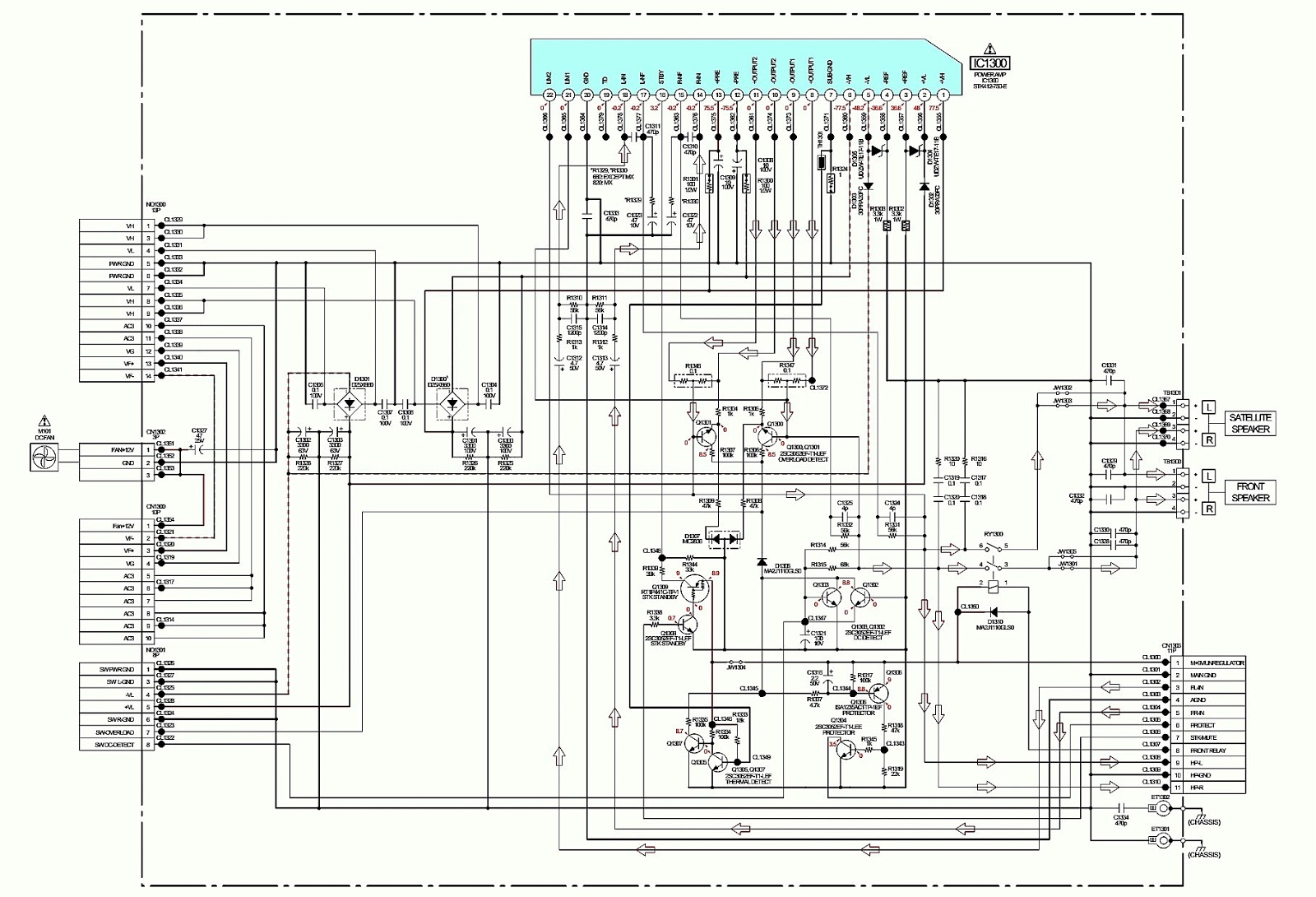 SONY HCD-GTR88 Power Amplifier Circuit Diagram STK412-750-E