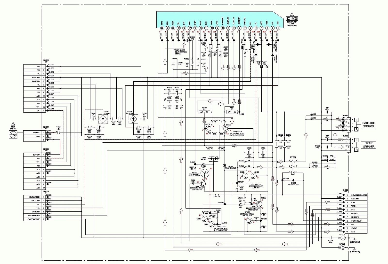 SONY HCDGTR88 Power Amplifier Circuit Diagram STK412750E