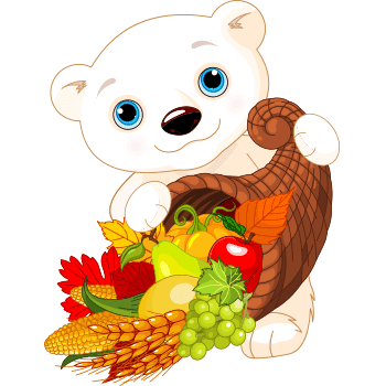 Thankful Polar Bear