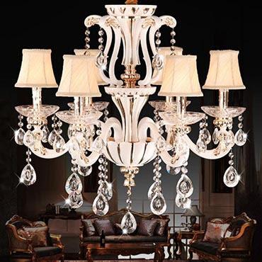 Hướng dẫn cách chọn đèn chùm cổ điển trang trí phòng khách