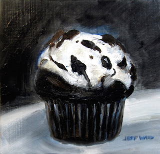 Cupcake oil painting by Jeff Ward