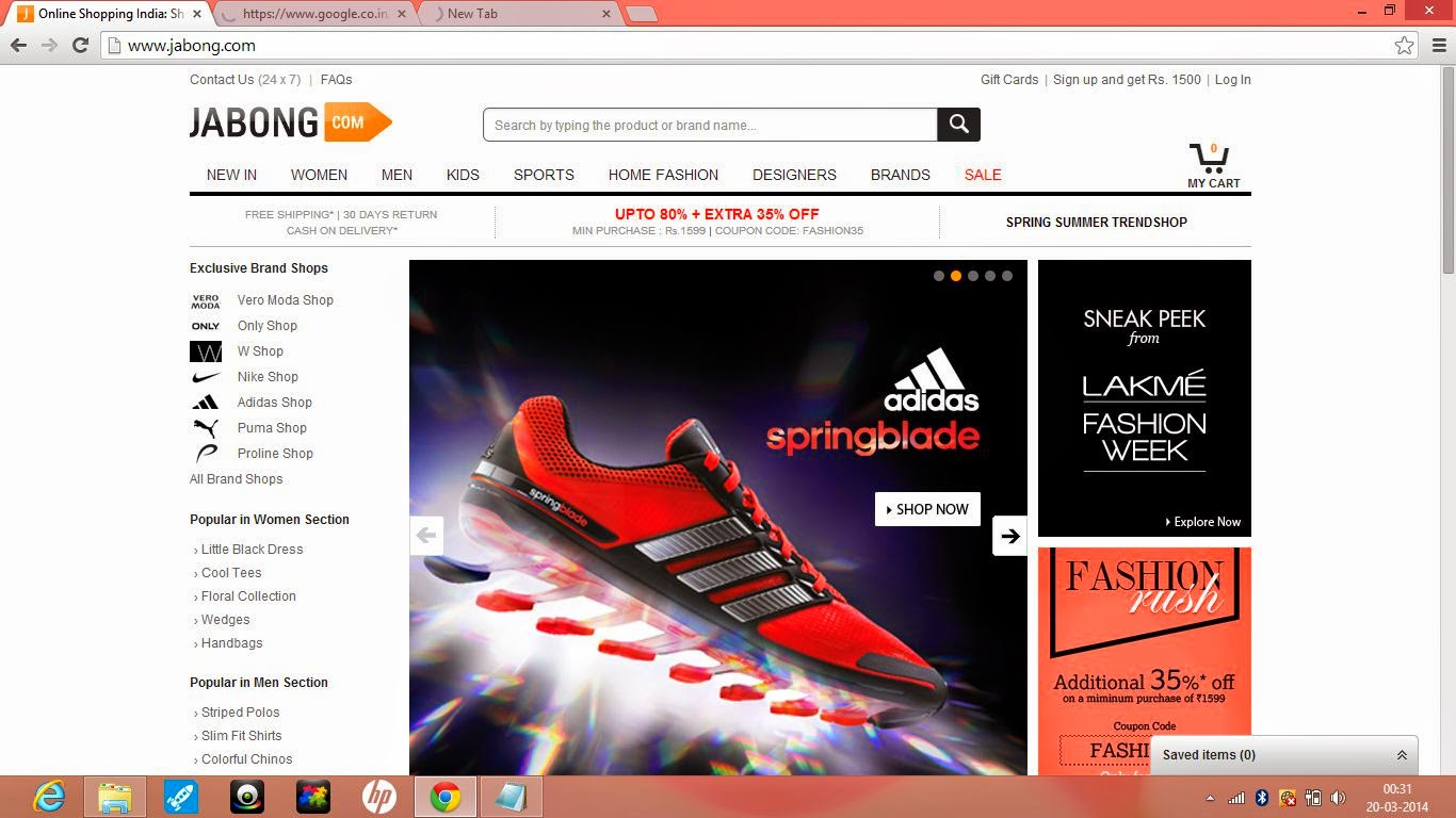 Jabong Online Shopping India Review