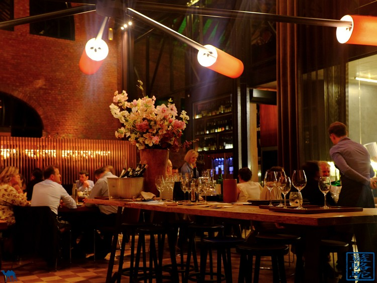 Le Chameau Bleu  -Blog Voyage Restaurant Gand Belgique -  Salle du restaurant gastronomique Volta à Gand