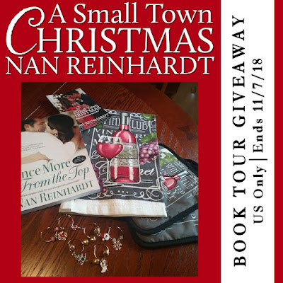 A Small Town Christmas by Nan Reinhardt book tour giveaway graphic