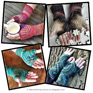 Free Knitting Patterns for #fingerless #gloves by Knitting and so on