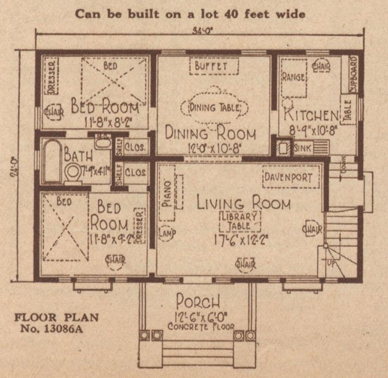sears crescent floor plan 13086a