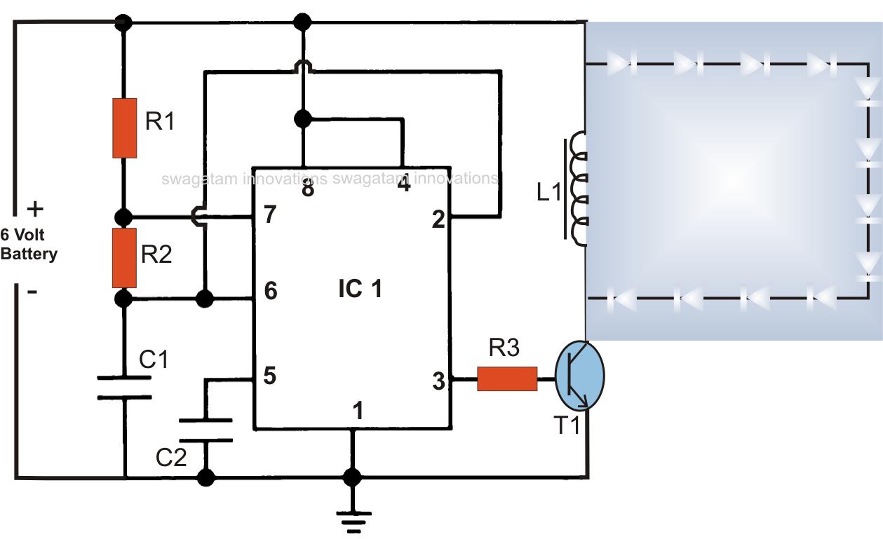 LED Emergency Light Circuit Using Boost Converter ...