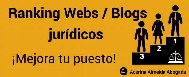 Lista con los puestos de webs y blogs jurídicos
