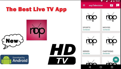 NopTelevision Apk App Free Live TV On Android & Amazon Fire TV - New