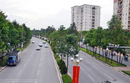 Đường Nguyễn Ái Quốc rộng rãi, đẹp nhất TP.Biên Hòa. Một góc đô thị Long Khánh.