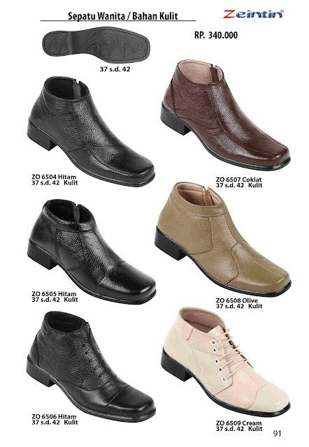 Zeintin Merk sepatu wanita ukuran 42 model boot bahan kulit yang sudah di akui kualitasnya