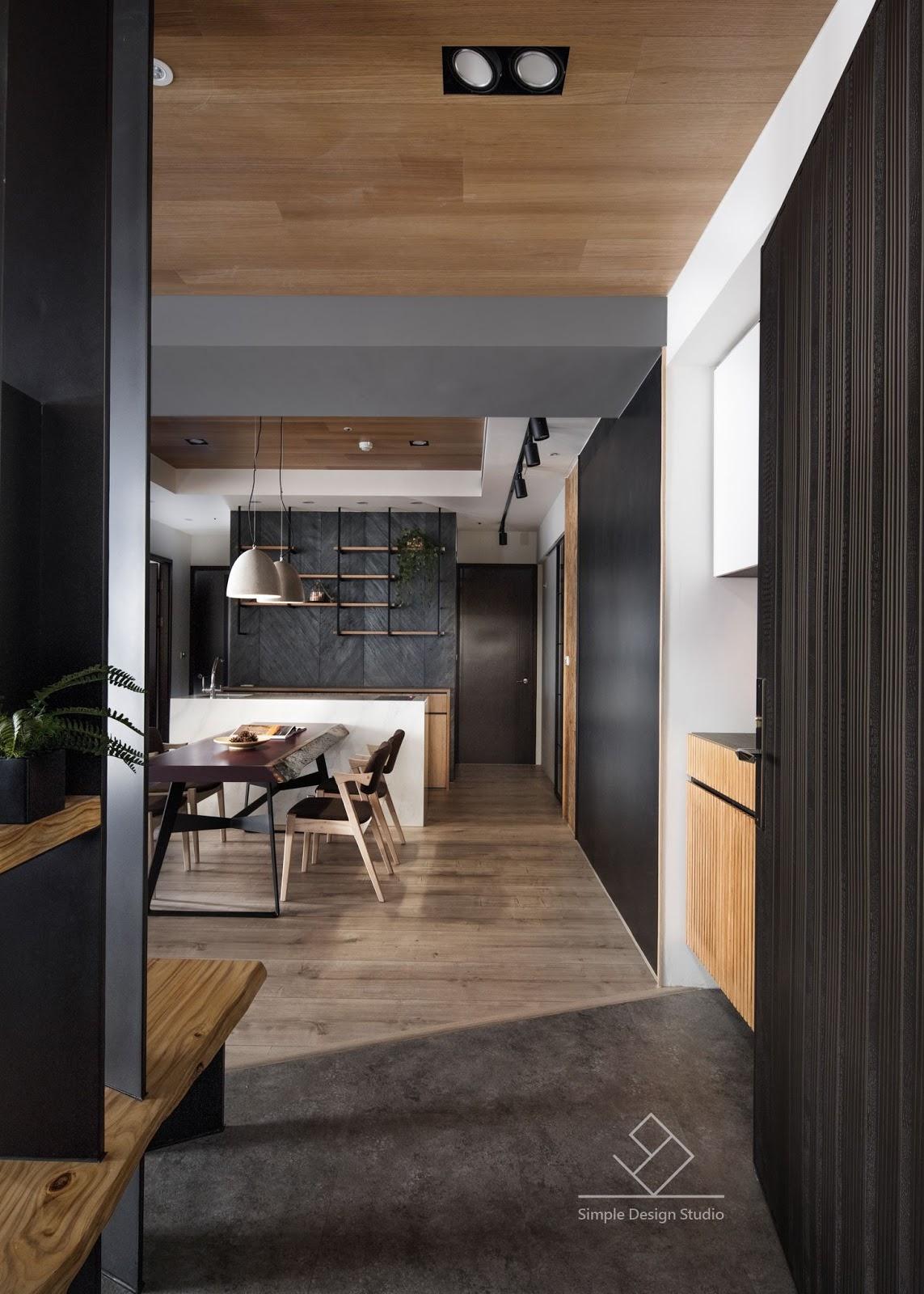 Simple Design Studio - 極簡室內設計: 室內設計作品:S&C秘境《翰林富苑》