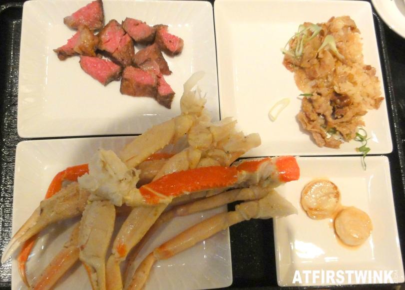 Hokkaido Nanao pork butadon beef teppanyaki snow crab legs scallops