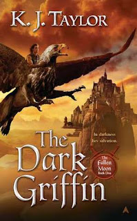 Image of 'The Dark Griffin' by K.J. Taylor, first book in the 'Fallen Moon' series
