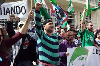 Concentración en Zaragoza para pedir la libertad de Andrés Bódalo