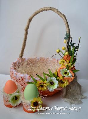 корзинка из газет, пасхальная корзинка, подставка под яйца