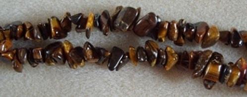 semi-precious tiger eye beads