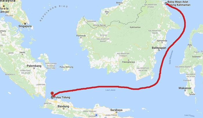 Konon Masyarakat Tidung Berlayar Melintasi Laut Jawa dan Terdampar di Pulau Tidung