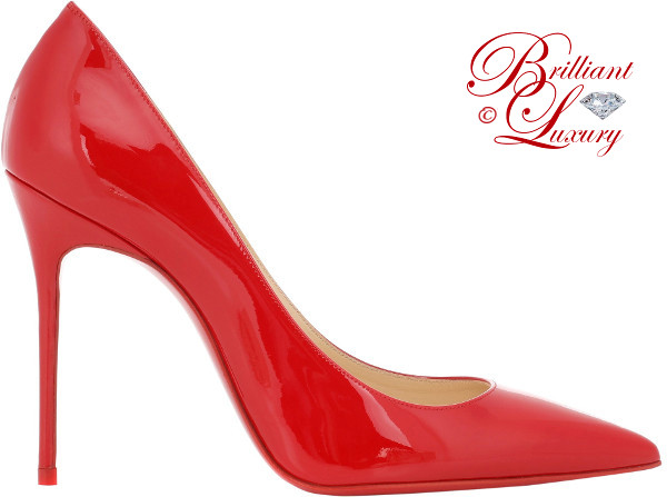 Brilliant Luxury ♦ Christian Louboutin Décolleté pumps in red 2018