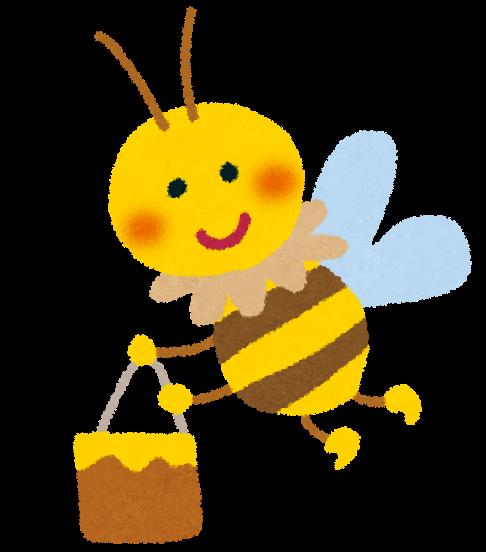 ハチミツを運ぶミツバチのイラスト かわいいフリー素材集 いらすとや