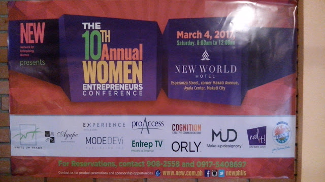The 10th Annual Women Entrepreneur Conference by Network for Enterprising Women (NEW) happens on March 4, 2017, 8:00 AM to 12:00 NN at the New World Hotel. Ticket rate is Php 2,500.