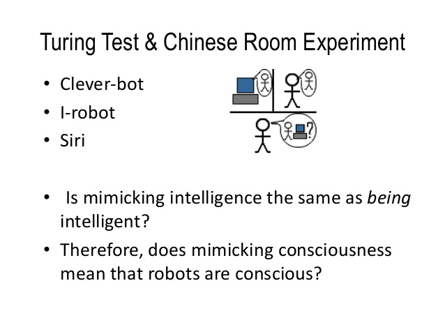 chinese room experiment The argument and thought-experiment now generally known as the chinese room argument was first published in a paper in 1980 by.