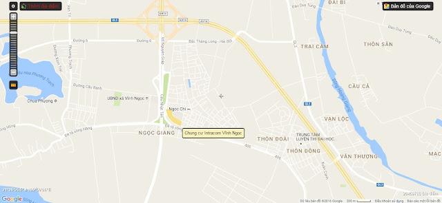 Vị trí của dự án Intracom Vĩnh Ngọc.