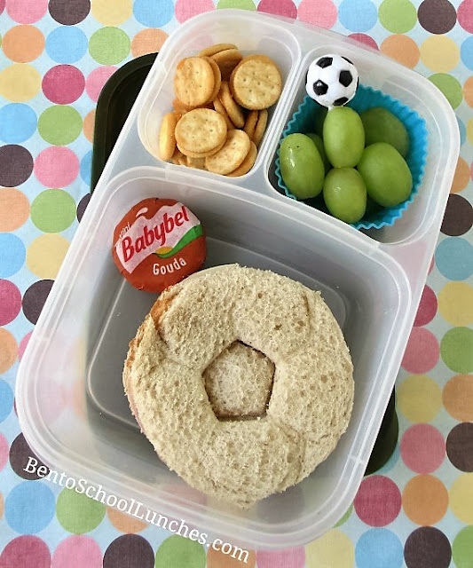 Soccer themed school lunch.
