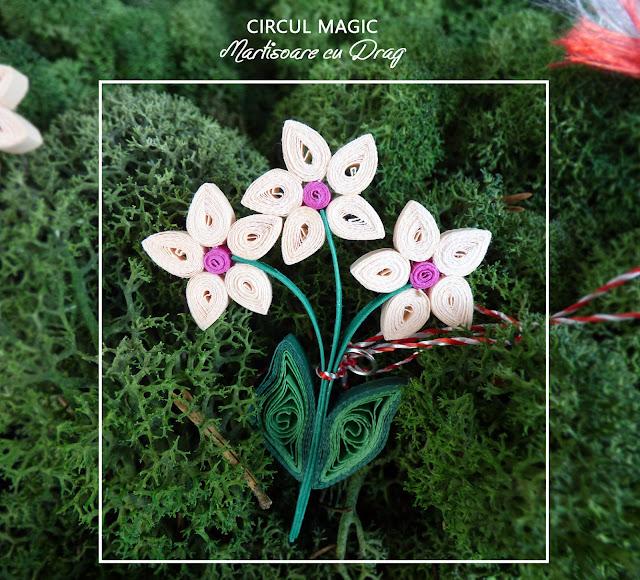 Circul Magic - Martisoare Quilling 2017 -  Violete